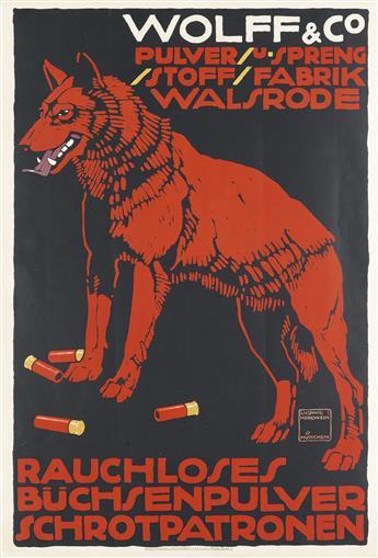 LUDWIG HOHLWEIN (1874-1949). WOLFF & CO. 1912. 35x24 inches, 90x61 cm. G. Schuh & Cie., Munich.