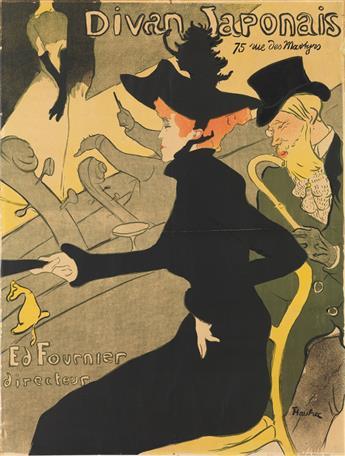 HENRI DE TOULOUSE-LAUTREC (1864-1901). DIVAN JAPONAIS. 1893. 31x23 inches, 78x59 cm. Edw. Ancourt, Paris.