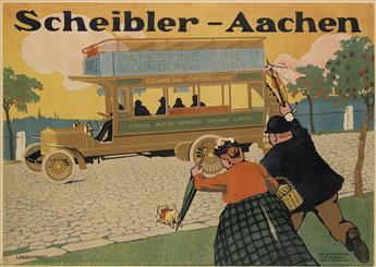 HANS LINDENSTAEDT (1874-?). SCHEIBLER - AACHEN. Circa 1912. 34x46 inches, 86x118 cm. Curt Behrends & Co., Berlin.