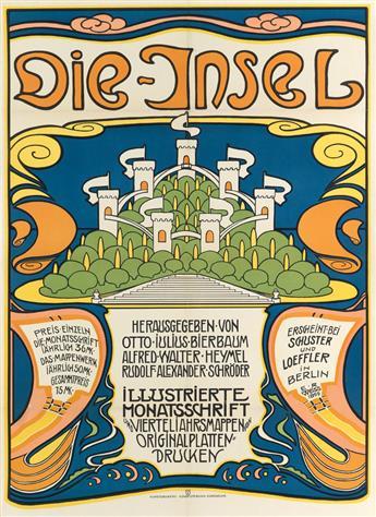 EMIL RUDOLPH WEISS (1875-1942). DIE - INSEL. 1899. 32x23 inches, 90x59 cm. Kunstdruckerie Kunstlerbund, Karlsruhe.