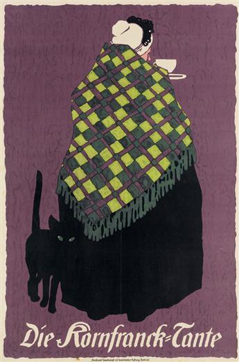 LOUIS OPPENHEIM (1879-1936). DIE KORNFRANCK - TANTE. Circa 1908. 28x18 inches, 72x48 cm. Kornfranck Gesellschaft mit beschränkter Haf