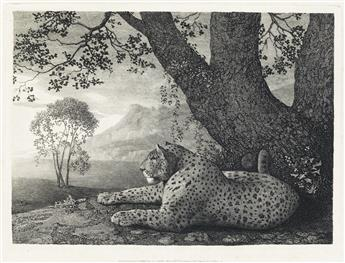 GEORGE STUBBS A Tyger (or A Recumbant Leopard by a Tree).