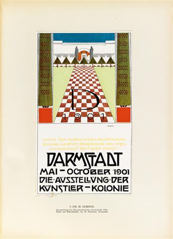OTTOKAR MASCHA (1852-1929). ÖSTERREICHISCHE PLAKATKUNST. Circa 1914. 15x11 inches, 39x29 cm. J. Löwy, Vienna.