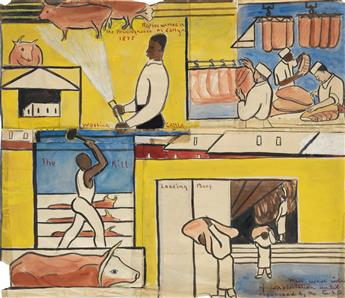 THELMA JOHNSON STREAT (1911 - 1959) The Meatpacking District (Study for The Negro in Professional Life).