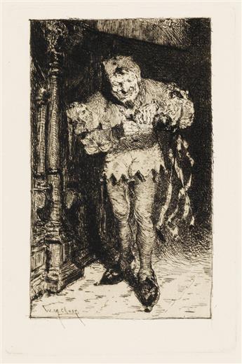 WILLIAM MERRITT CHASE Two etchings.