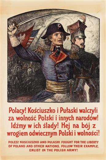 WLADYSLAW THEODOR BENDA (1873-1948). ENLIST IN THE POLISH ARMY! Circa 1916. 40x26 inches, 103x68 cm.