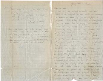 FRANCE, ANATOLE. Autograph Letter Signed, to My dear friend, in French,