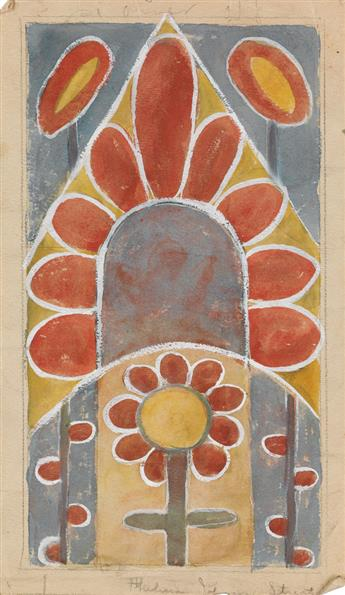 THELMA JOHNSON STREAT (1911 - 1959) Untitled (Abstract Chapel Flower).