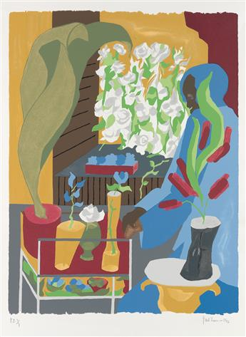 JACOB LAWRENCE (1917 - 2000) Supermarket - Flora.