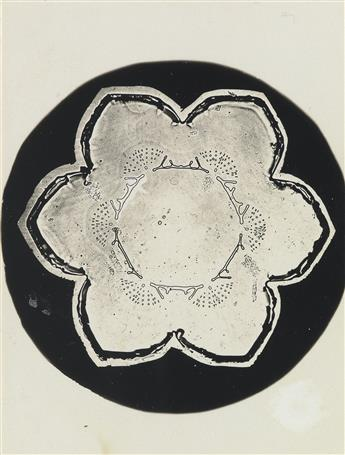 WILSON A. 'SNOWFLAKE' BENTLEY (1865-1931) Group of 3 microphotographs depicting snowflakes.