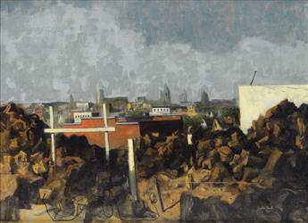 HUGHIE LEE-SMITH (1915 - 1999) Untitled (Cityscape).