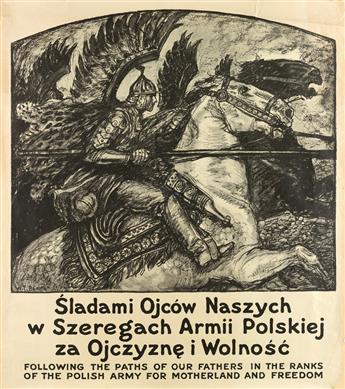 WLADYSLAW THEODOR BENDA (1873-1948). FOLLOWING THE PATHS OF OUR FATHERS / POLISH ARMY. Circa 1916. 36x31 inches, 91x80 cm.