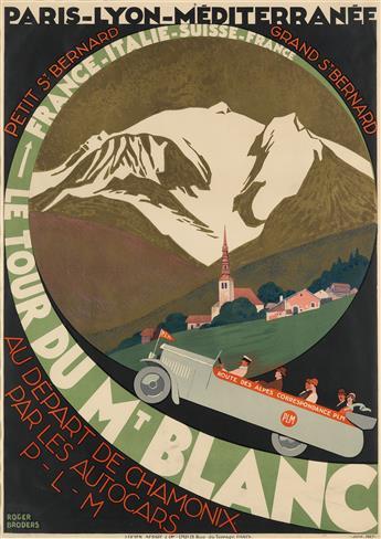 ROGER BRODERS (1883-1953). LE TOUR DU MT. BLANC. 1927. 41x29 inches, 104x73 cm. Lucien Serre, Paris.