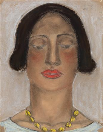 ABRAHAM WALKOWITZ Woman with a Gold Necklace.