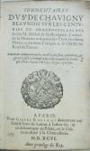 CHAVIGNY, JEAN-AIMÉ DE.  1596  Commentaires . . . sur les Centuries et Prognostications de feu M. Michel de Nostradamus.