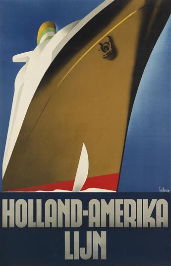 WILLEM FREDERICK TEN BROEK (1905-1993). HOLLAND - AMERIKA LIJN. 1936. 36x23 inches, 91x59 cm. [Joh. Enschede en Zonen, Haarlem, The Net