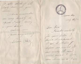 RILEY, EDGAR WILLIAM. Autograph Letter Signed, Eddie Riley,