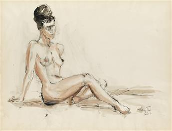 LOÏS MAILOU JONES (1905 - 1998) Untitled (Reclining Nude).