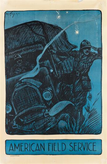 JOSEF PIERRE NUYTTENS (1885-1960). AMERICAN FIELD SERVICE. 1917. 34x22 inches, 86x57 cm.