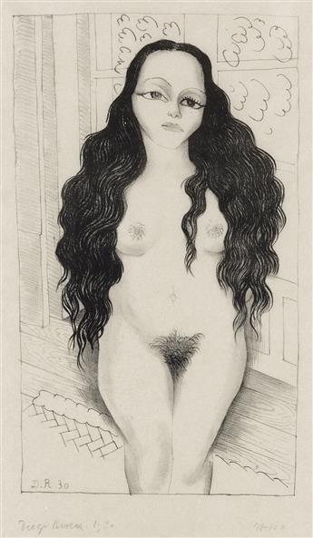 DIEGO RIVERA Desnudo de Dolores Olmedo.