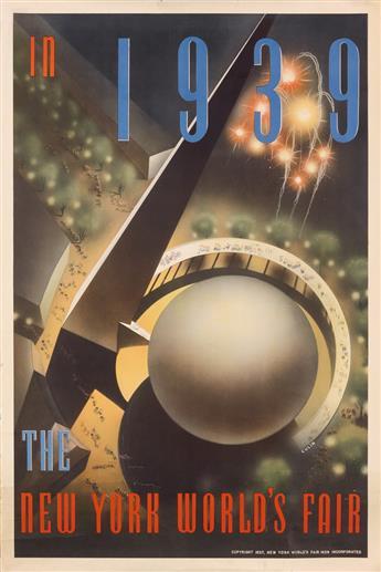 NEMBHARD N. CULIN (1908-1990). IN 1939 / THE NEW YORK WORLDS FAIR. 1937. 30x20 inches, 76x50 cm.