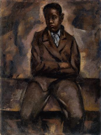 HUGHIE LEE-SMITH (1915 - 1999) Portrait of a Boy.