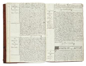 (MEXICAN MANUSCRIPTS.) Manuscript Indian marriage register.