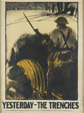 GERALD SPENCER PRYSE (1882-1956). YESTERDAY - THE TRENCHES. 1923. 39x29 inches, 100x74 cm. Vincent Brooks, Day & Son Ltd., London.
