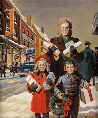 PAUL REMMEY. Christmas Shopping.