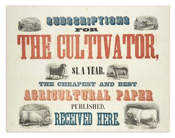 (AGRICULTURE.) Subscriptions for the Cultivator . . . the Cheapest and Best Agricultural Paper.