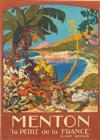 JAMES C. RICHARD (DATES UNKNOWN). MENTON. 1926. 41x29 inches, 104x75 cm. Lucien Serre & Cie., Paris.