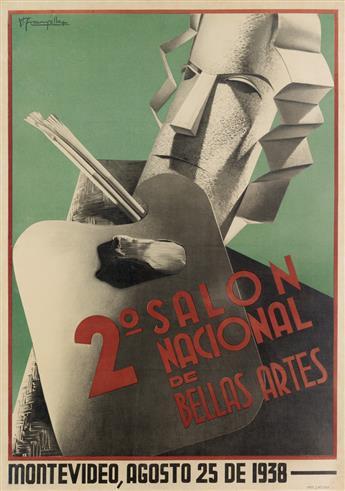 HUMBERTO FRANGELLA (1904-1965). 2o SALON NACIONAL DE BELLAS ARTES. 1938. 41x29 inches, 104x73 cm. Latina.