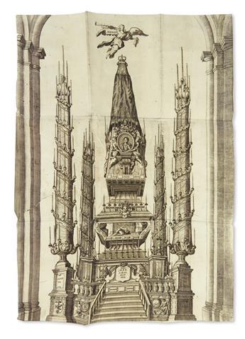 (MEXICAN IMPRINT--1761.) Llanto de la fama. Reales exequias de la serenissima Señora Da. Maria Amalia de Saxonia, reyna de las Españas.