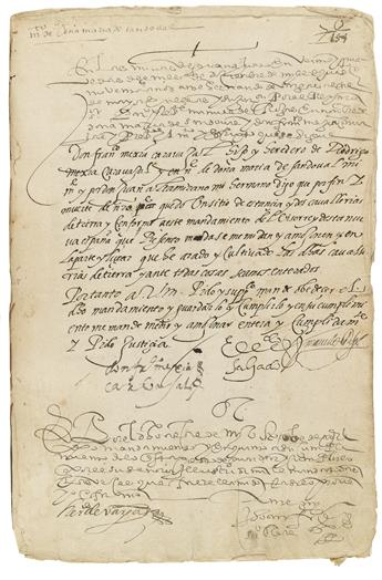 (MEXICAN MANUSCRIPTS.) Volume of land grants from colonial Guanajuato.
