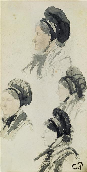 CAMILLE PISSARRO Ètudes de Femme au Bonnet.