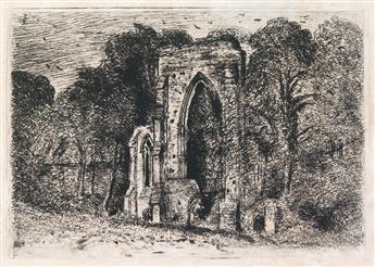 JOHN CONSTABLE The Ruins of Netley Abbey.