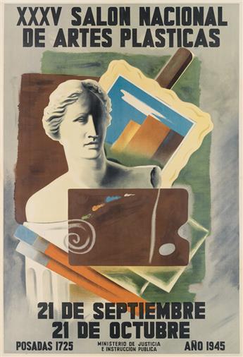 HUMBERTO FRANGELLA (1904-1965). XXXV SALON NACIONAL DE ARTES PLASTICAS. 1945. 42x28 inches, 107x73 cm. Escuela de Artes Gráficas de la