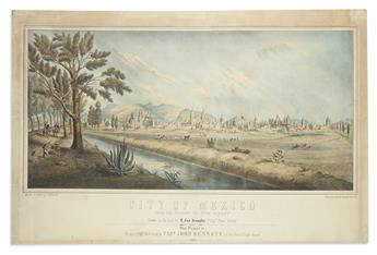 (MEXICO.) Hoffy, Alfred; after T. James Dunphy. City of Mexico from the Camino del Nina Perdita.