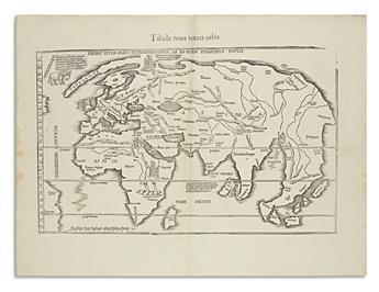 FRIES, LAURENT; after WALDSEEMULLER, MARTIN. Diefert Situs Orbis Hydrographorum ab eo quem Ptolomeus Posuit - Tabu Nova Orbis.