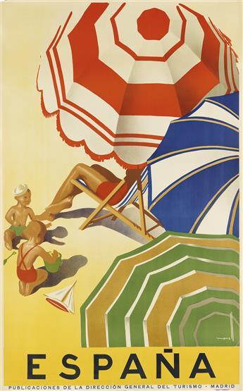 JOSÉ MORELL (1899-1949). ESPAÑA. Circa 1939. 39x24 inches, 99x61 cm. Seix y Barrel, [Barcelona.]