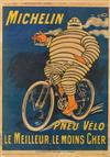O'GALOP (MARIUS ROSSILLON, 1867-1946). PNEU VÉLO MICHELIN. Group of 4 posters. Circa 1915. Sizes vary. Chaix, Paris.