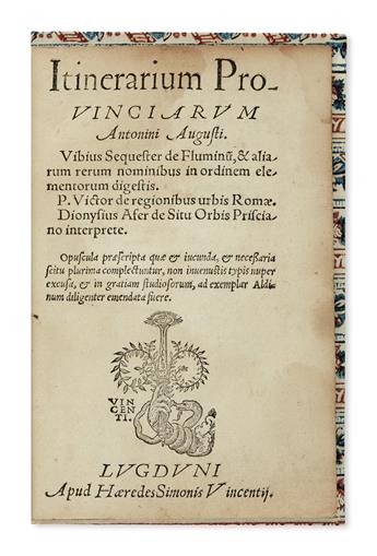 ANTONINE ITINERARY.  Itinerarium provinciarum Antonini Augusti [and other texts].  Circa 1545?
