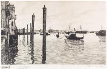 OTTO HENRY BACHER (after) Grand Canal, Vanice