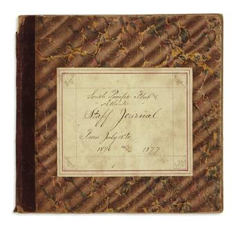 (NAVY.) Caldwell, Henry W. Staff journal kept on behalf of Commodore Charles H.B. Caldwell.