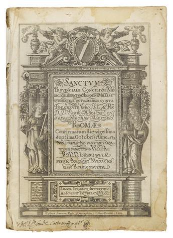 (MEXICAN IMPRINT--1622.) Sanctum provinciale concilium Mexici.