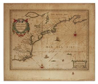 JANSSONIUS, JOANNES. Nova Anglia Novum Belgium et Virginia.