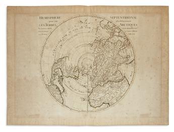 DE LISLE, GUILLAUME. Hemisphere Septentrional Pour Voir Plus Distinctement les Terres Arctiques.