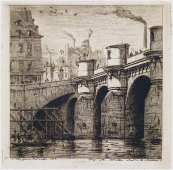 CHARLES MERYON Le Pont Neuf.