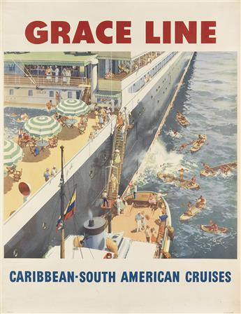 VARIOUS ARTISTS. [OCEAN LINERS.] Group of 6 posters. Sizes vary.