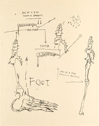 JEAN-MICHEL BASQUIAT (1960 - 1988) Leg of a Dog, from Da Vinci.